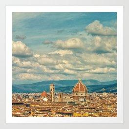 Duomo in Florence Skyline Kunstdrucke