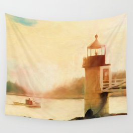A Day In Maine Wall Tapestry
