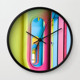 Oblong Colours Wall Clock