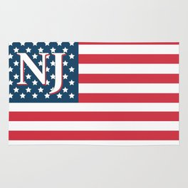 New Jersey American Flag Rug