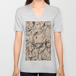 abstract expressionism Unisex V-Neck