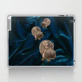 Hippo Parade on Velvet Laptop & iPad Skin