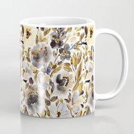 Gold and Grey Fall Feels Floral Coffee Mug