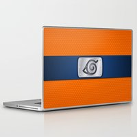 sasuke Laptop & iPad Skins featuring NARUTO BANDANA HEADBAND by BeautyArtGalery
