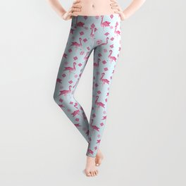 Origami Flamingo Leggings