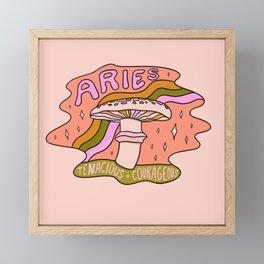 Aries Mushroom Framed Mini Art Print