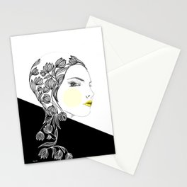 yellow kiss Stationery Cards