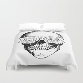 Skull and Roses | Black and White Duvet Cover