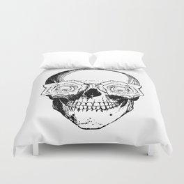 Skull and Roses | Black and White Duvet Cover