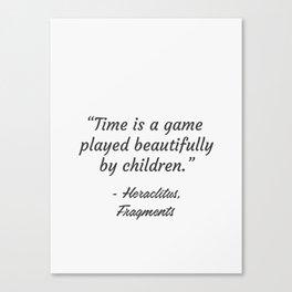 Heraclitus, Fragments, quote 2 Canvas Print