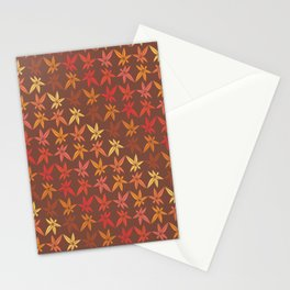 Warm Fall Leaves Pattern Stationery Cards