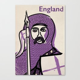 England and Saint George vintage style travel poster Canvas Print
