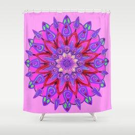 MANDALA OF PURPLE  & PINK ART DESIGN ART Shower Curtain