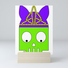 PRINCESS SKULL Mini Art Print