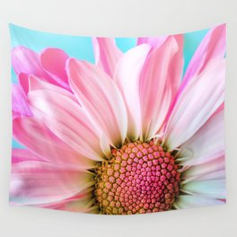 Pink Daisy Flower Wall Tapestry