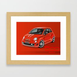 FIAT Abarth 500 Framed Art Print