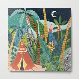 Jungle Tipi Tiger Metal Print