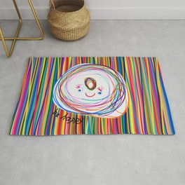 Be Happy | Smile | Stay Child | Kids Painting Rug