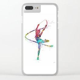 Rhythmic Gymnastics Print Sports Print Watercolor Print Clear iPhone Case