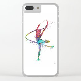 Rhythmic Gymnastics Print Sports Print Watercolor Print Clear iPhone Case
