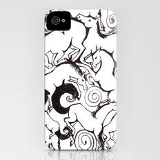 B&W Horse Pattern Slim Case iPhone (4, 4s)