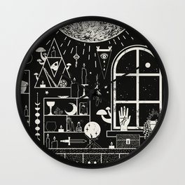 Moon Altar Wall Clock