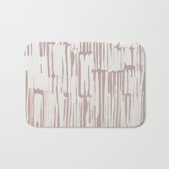 Simply Bamboo Brushstroke Lunar Gray on Clay Pink Bath Mat