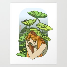 Lotus Capped Art Print