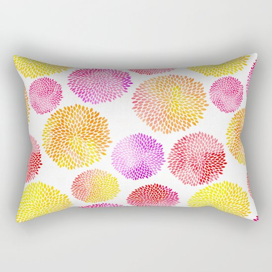Yellow Red Purple Fireworks Rectangular Pillow