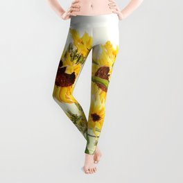 One sunflower watercolor arts Leggings