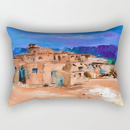 Taos Pueblo Village Rectangular Pillow