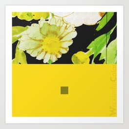 yellow&black 2 Art Print