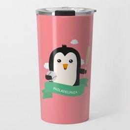 Baseball Penguin from PHILADELPHIA T-Shirt Travel Mug