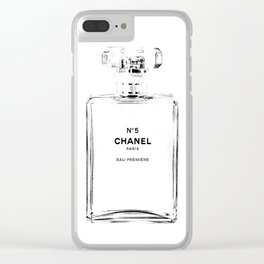 Fashion illustration sketch Clear iPhone Case