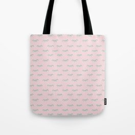 Small Pink Sleeping Eyes Of Wisdom - Pattern - Mix & Match With Simplicity Of Life Tote Bag