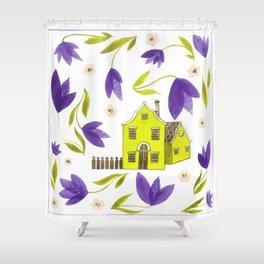 Crocus flowers Shower Curtain