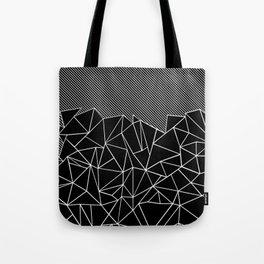 Ab Lines 45 Black Tote Bag