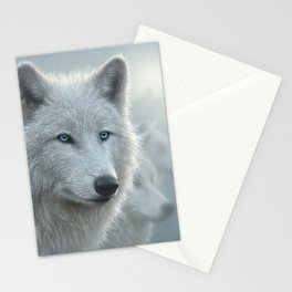 White Wolves - Whiteout Stationery Cards