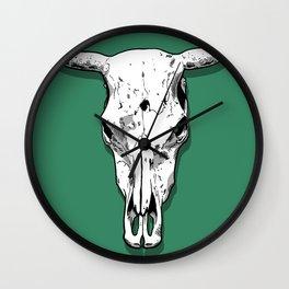 Longhorn skull Wall Clock