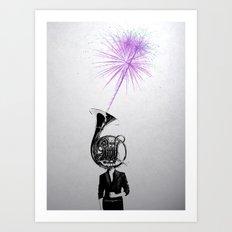 horn player Art Print