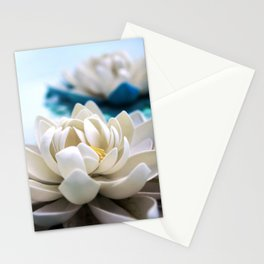 Flowers on the pond Stationery Cards