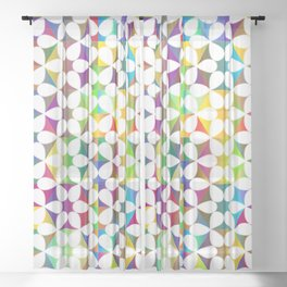 Modern Stars Sheer Curtain
