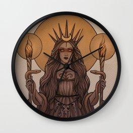 Goddess Hecate Wall Clock