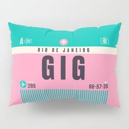Baggage Tag A - GIG Rio De Janeiro Galeao Brazil Pillow Sham