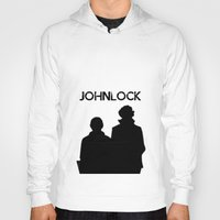 johnlock Hoodies featuring Johnlock by lori