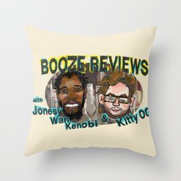BOOZE REVIEWS Throw Pillow