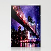 new york Stationery Cards featuring New York New York by WhimsyRomance&Fun