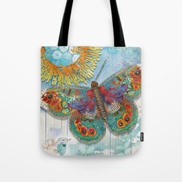 Sunny Dream Butterfly Tote Bag