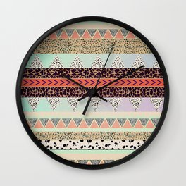 Leopard  print HIAWATHA   Wall Clock