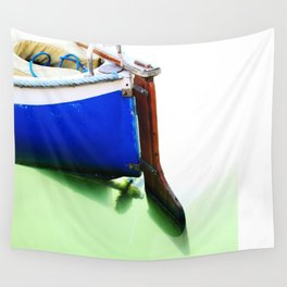 The fishing boat and the water Wall Tapestry